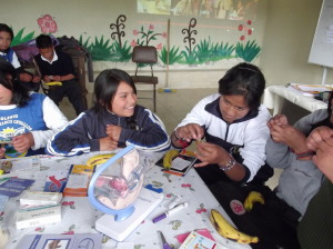 Students learn about Contraceptives