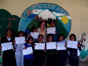 Students receive certificates for completion of Sexual Education Course